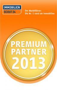 """Wir sind Immobilienscout24 """"Premium Partner 2013"""""""