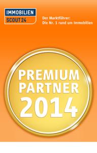 """Auszeichnung von Immobilienscout24 als """"Premium Partner 2014"""" für Rogers Immobilien"""