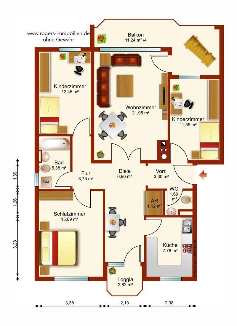 Immobilien München Schwabing Wohnung Grundriss
