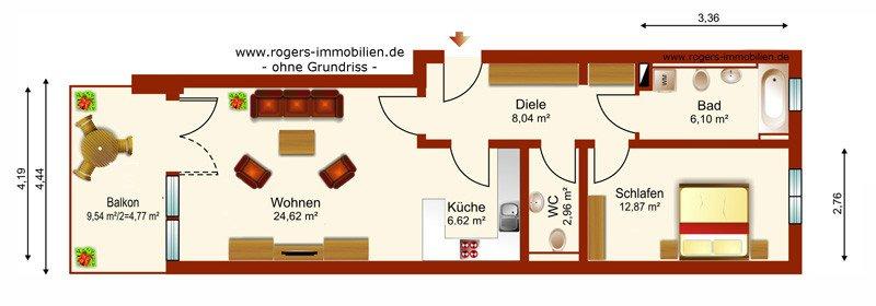 München Großhadern Wohnung Grundriss