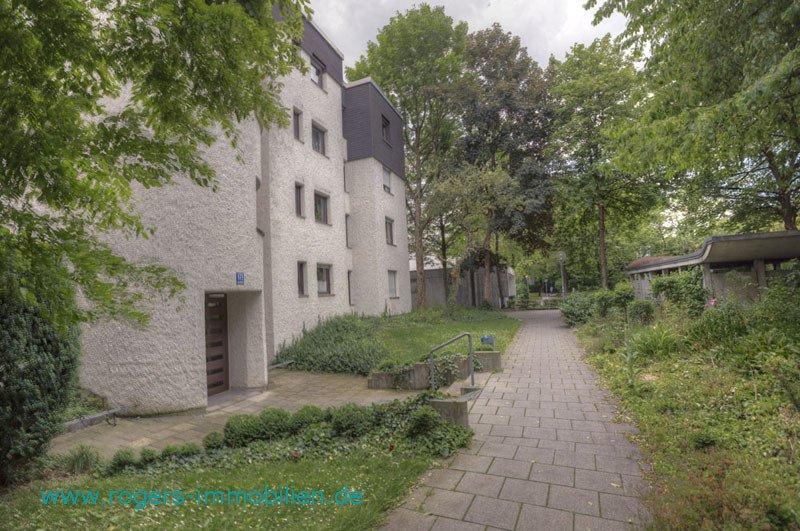 München Hadern Mietwohnung Zugang zum Haus