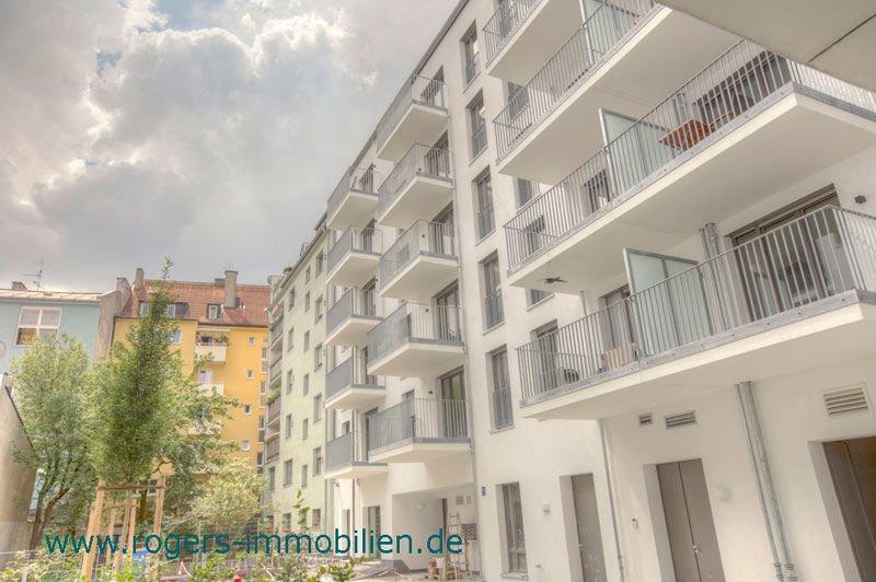 München Ludwigsvorstadt Mietwohnung Außenansicht Hofseite