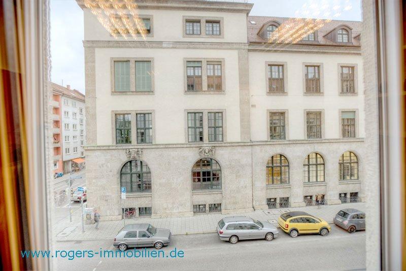 München Maxvorstadt Mietwohnung Blick zur TU