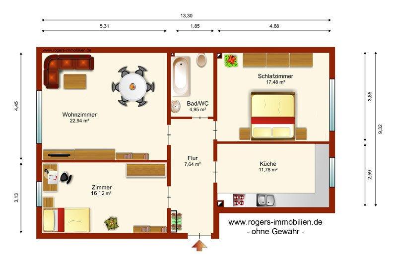 München Obersendling Wohnung zum Kauf Grundriss
