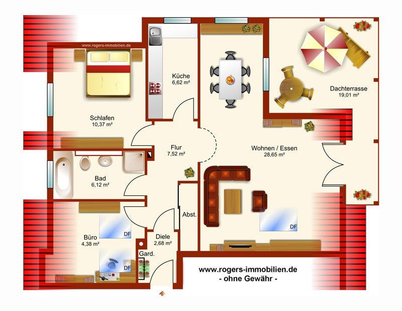 Gröbenzell Wohnung zur Miete Grundriss