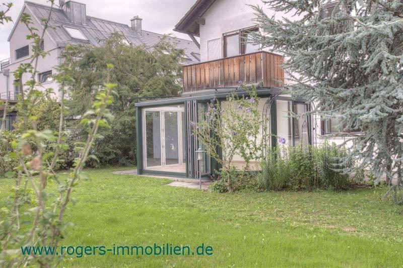 München Forstenried Haus zur Miete Garten mit Wintergarten