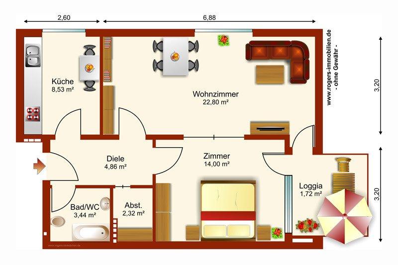 München Schwabing Wohnung zum Kauf Grundriss