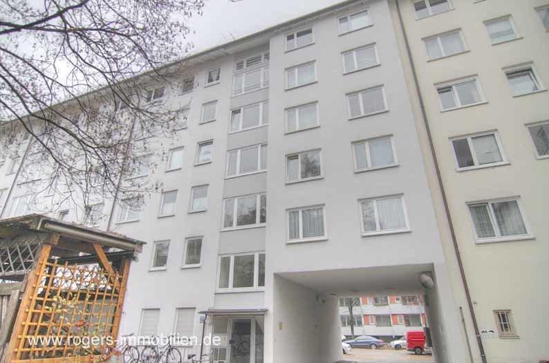 München Sendling Mietwohnung Außenansicht vom Innenhof