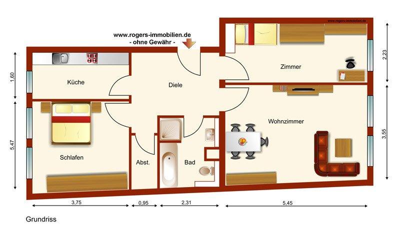 München Obersendling Immobilienmakler Wohnung mieten Grundriss