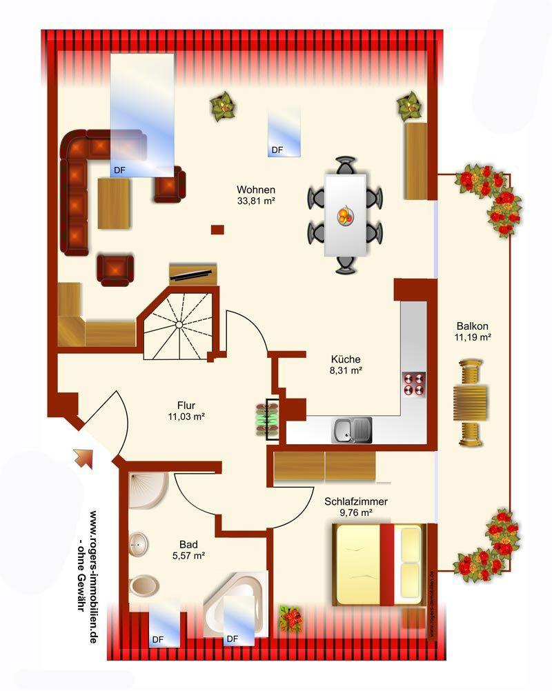 Gilching Wohnung mieten, Grundriss-DG