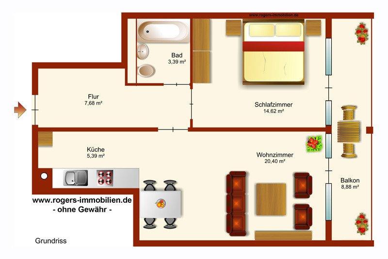 Grundriss Wohnung 140 Qm 4 Zimmer : Hier können Sie sich den ...
