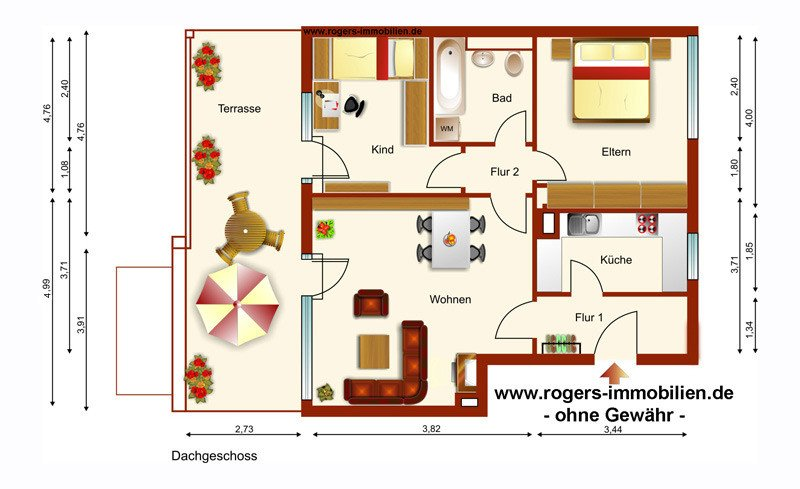 Taufkirchen Immobilienmakler Wohnung Grundriss