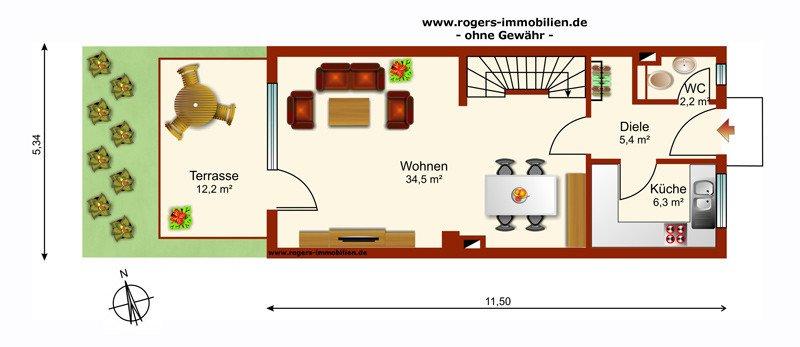 Neubiberg Immobilienmakler Haus zum Kauf Grundriss-EG