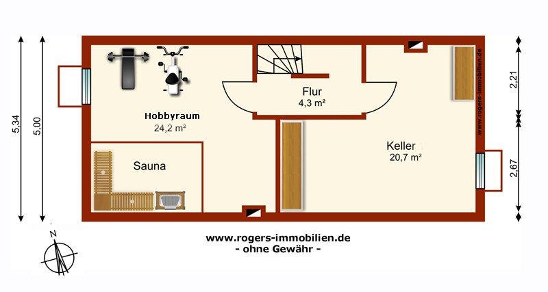 Neubiberg Immobilienmakler Haus zum Kauf Grundriss-KG