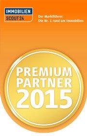 """Auszeichnung von Immobilienscout24 als """"Premium Partner 2015"""" für Rogers Immobilien"""