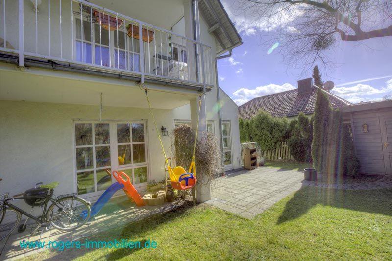 München Moosach Immobilienmakler Gartenwohnung Blick zur Terrasse-2