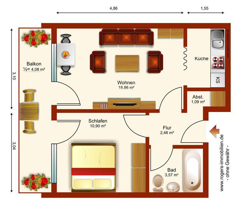 München Giesing Immobilienmakler Wohnung kaufen Grundriss