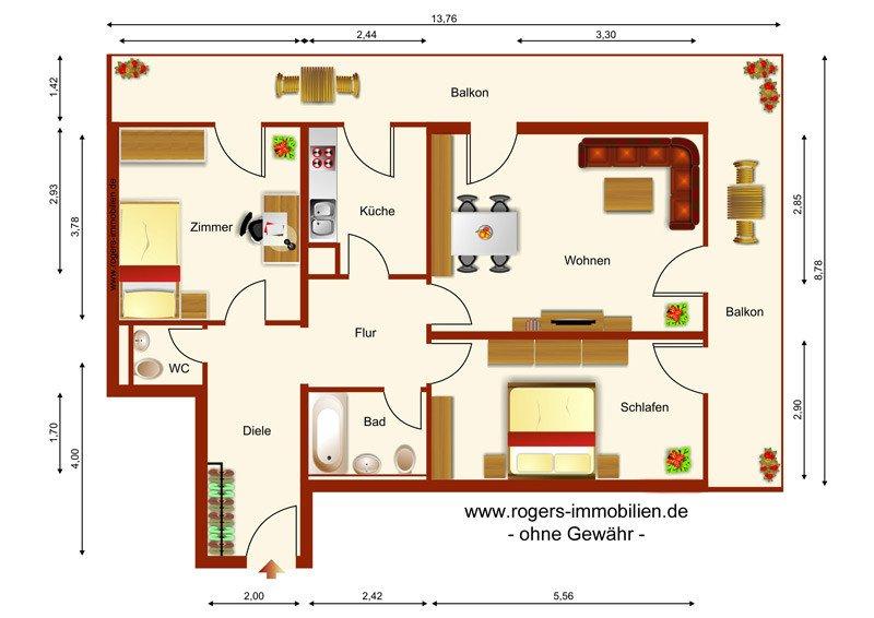 renovierte wohnung mit gro z gigem schnitt. Black Bedroom Furniture Sets. Home Design Ideas