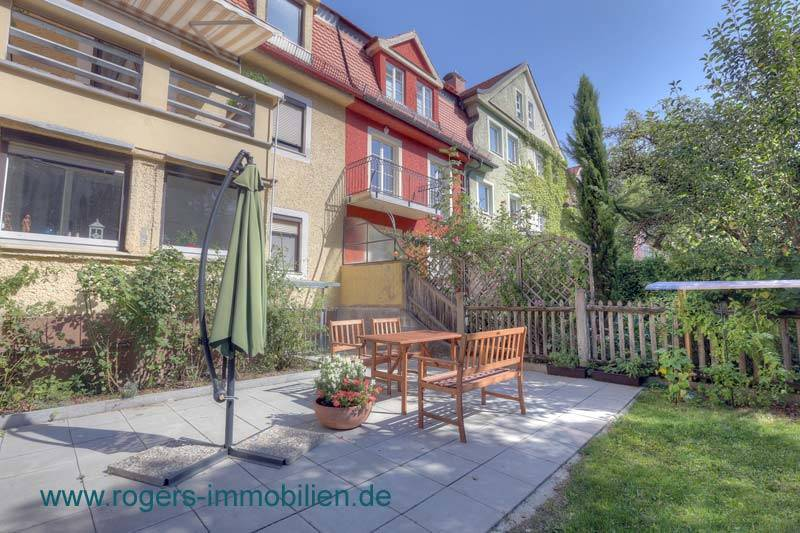 München Obersendling Immobilienmakler Wohnung Terrasse mit Garten