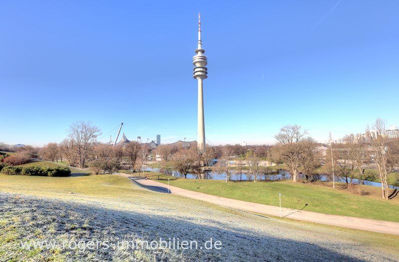 München Schwabing Immobilienmakler Wohnung verkaufen Blick auf den Olympiasee