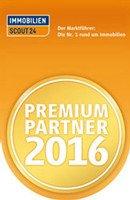 Premium Partner 2016 Siegel von Immoscout24 für Rogers Immobilien