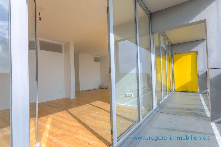 München Thalkirchen Immobilienmakler, Erstbezug Wohnung mieten, Balkon