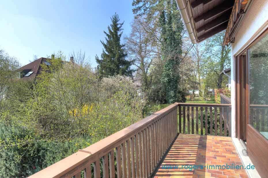 München Obermenzing Immobilienmakler, Haus mieten, Südbalkon