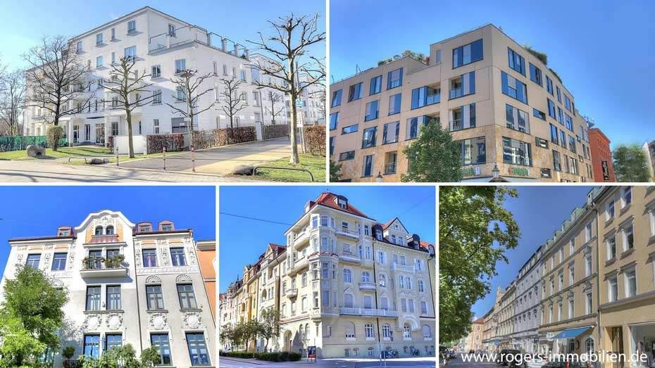 Eigentumswohnungen mit verschiedenen Baujahren