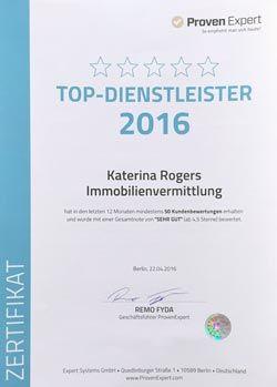 """5-Sterne Ausgezeichnung von Proven Expert als """"Top-Dienstleister"""""""
