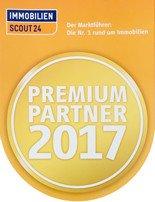 """Auszeichnung """"Premium Partner 2017"""" von Immobilienscout24"""