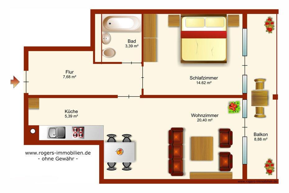 München Bogenhausen Immobilienmakler, Wohnung, Grundriss