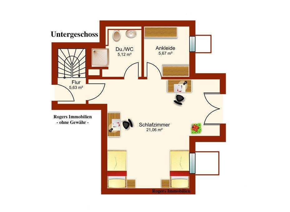 München Solln Immobilienmakler, Wohnung vermieten, Grundriss Untergeschoss