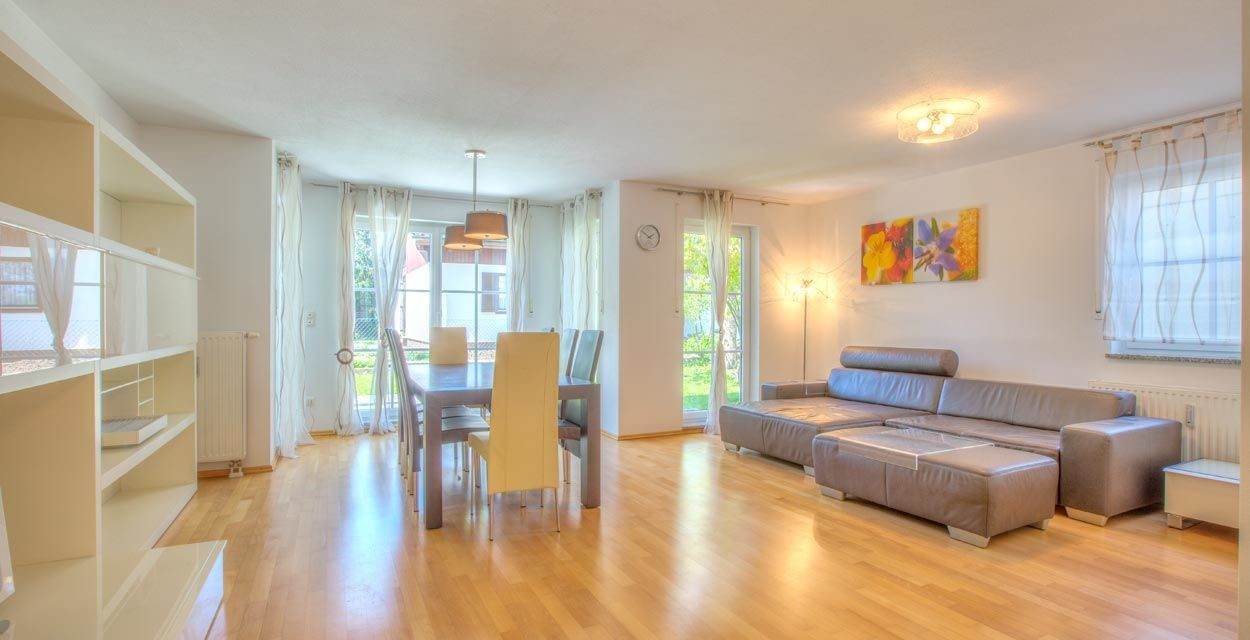 Solln: Moderne Wohnung geschmackvoll möbliert in ruhiger Lage