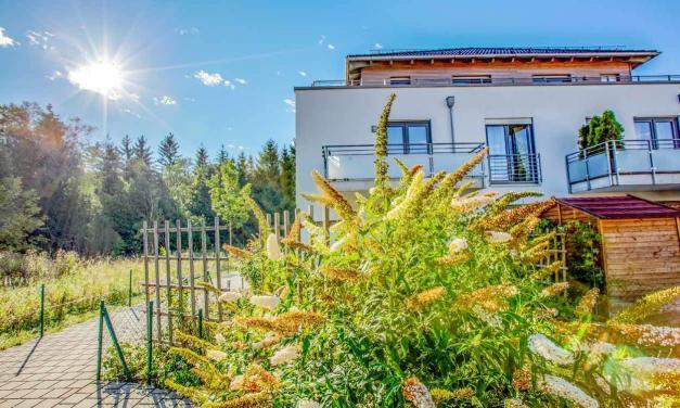 Hochwertige Wohnung mit kleinem Garten