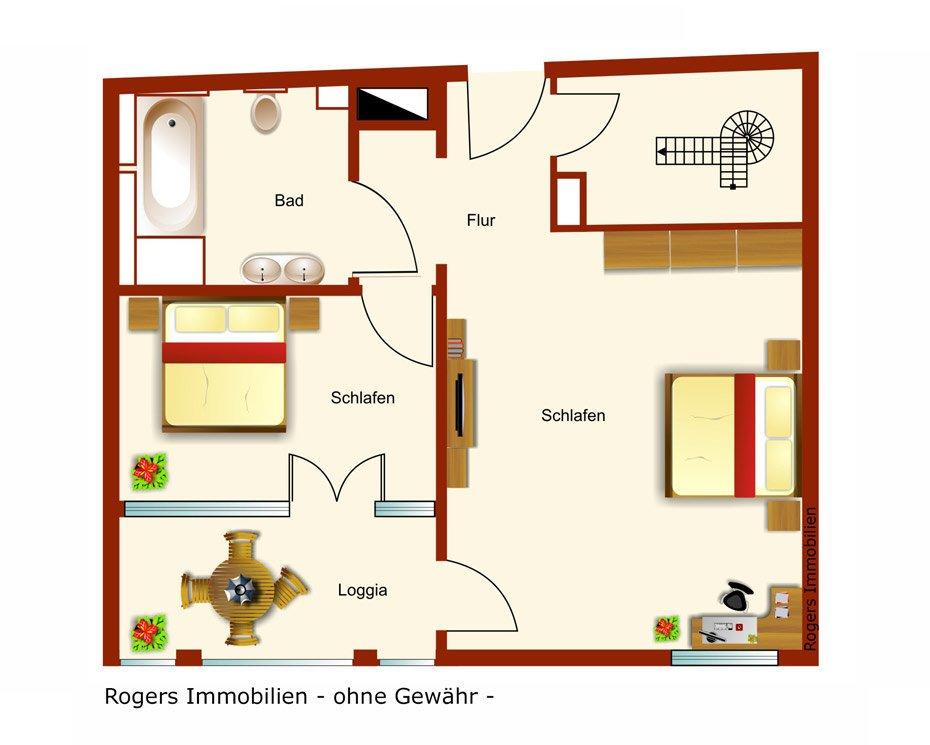 München Solln Immobilienmakler, Wohnung verkaufen, Grundriss
