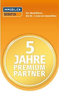 """Auszeichnung """"5-Jahre Premium Partner"""" von ImmobilienScout24"""