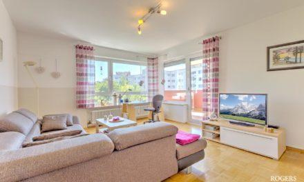 Perfekt geschnittene Wohnung mit Blick ins Grüne