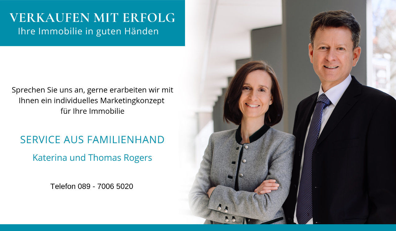 Immobilienmakler Team Sendling, Katerina und Thomas Rogers