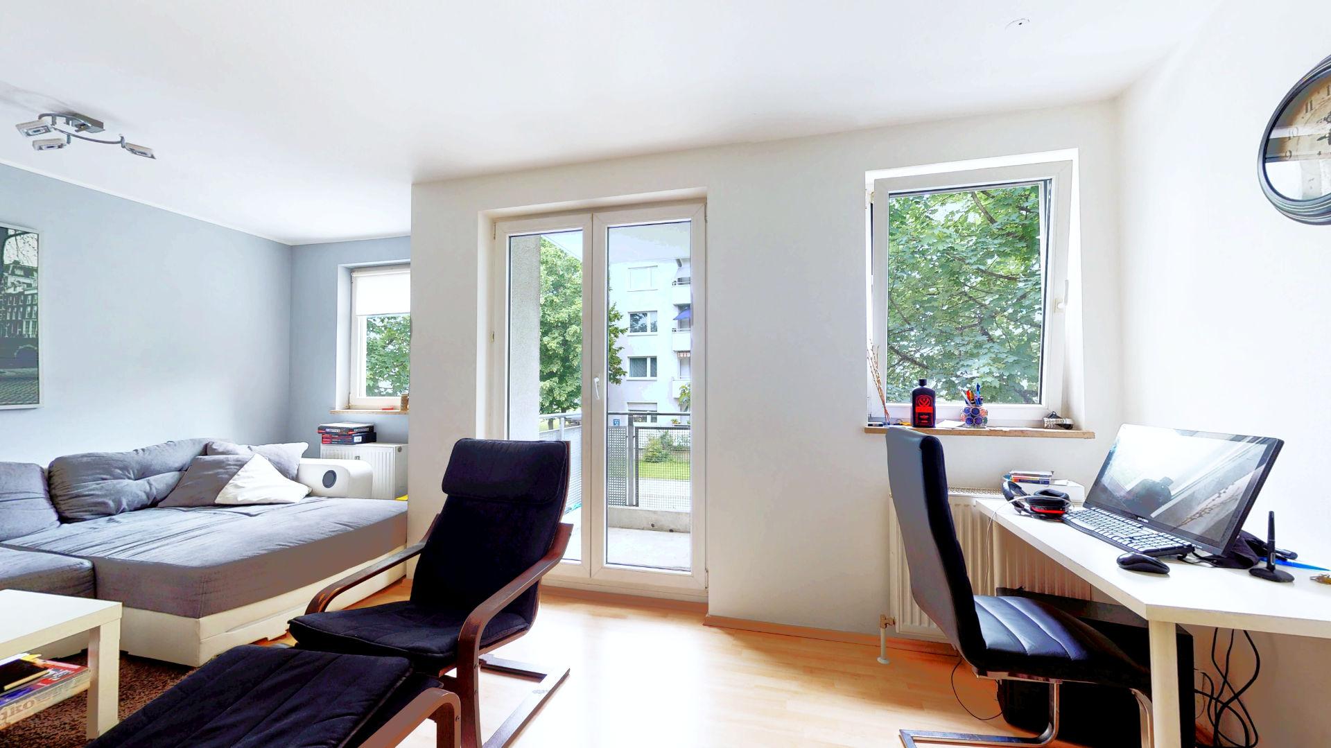Wohnung kaufen Moosach Wohnzimmer 3