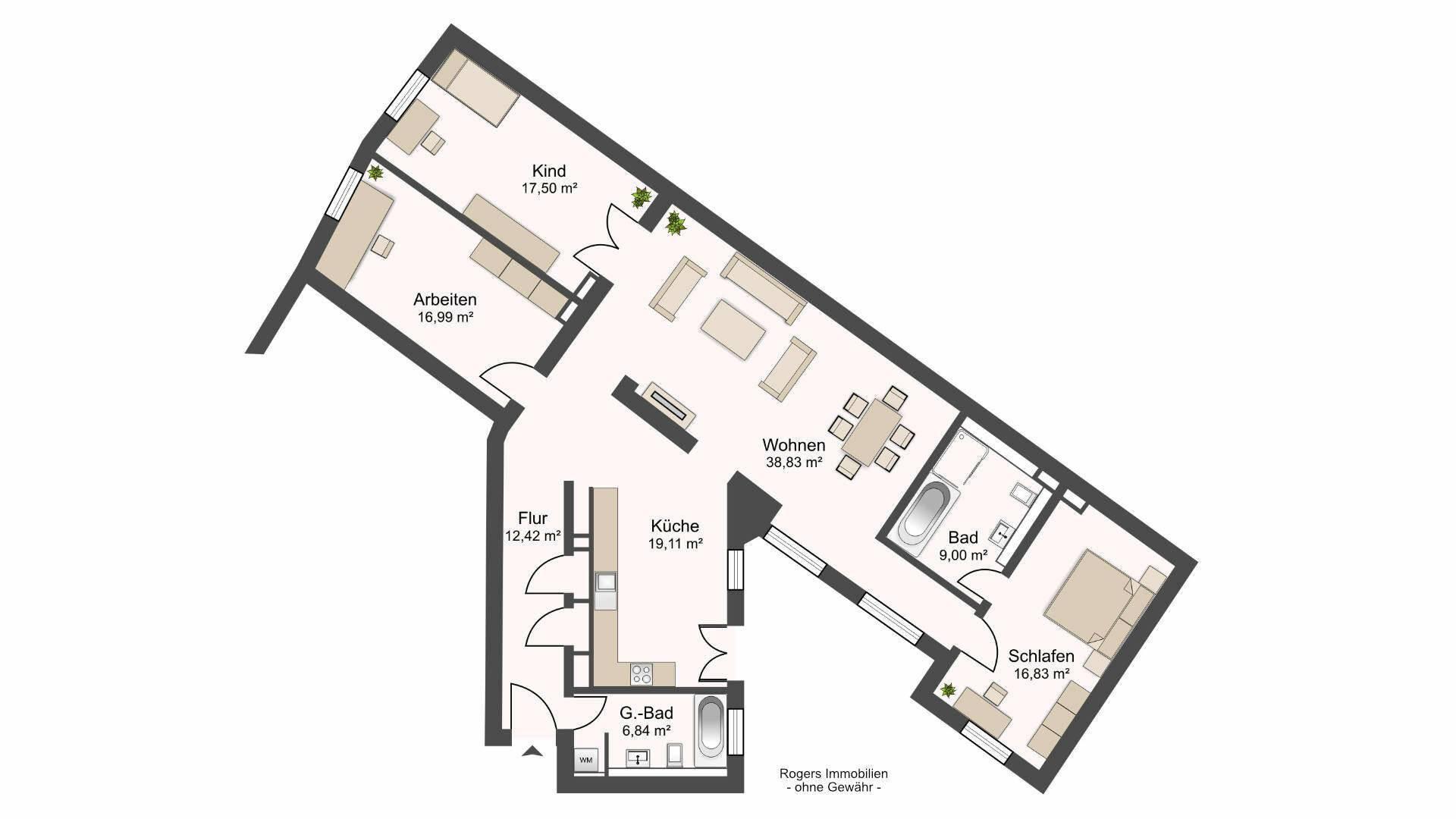 Au Altbauwohnung Grundriss
