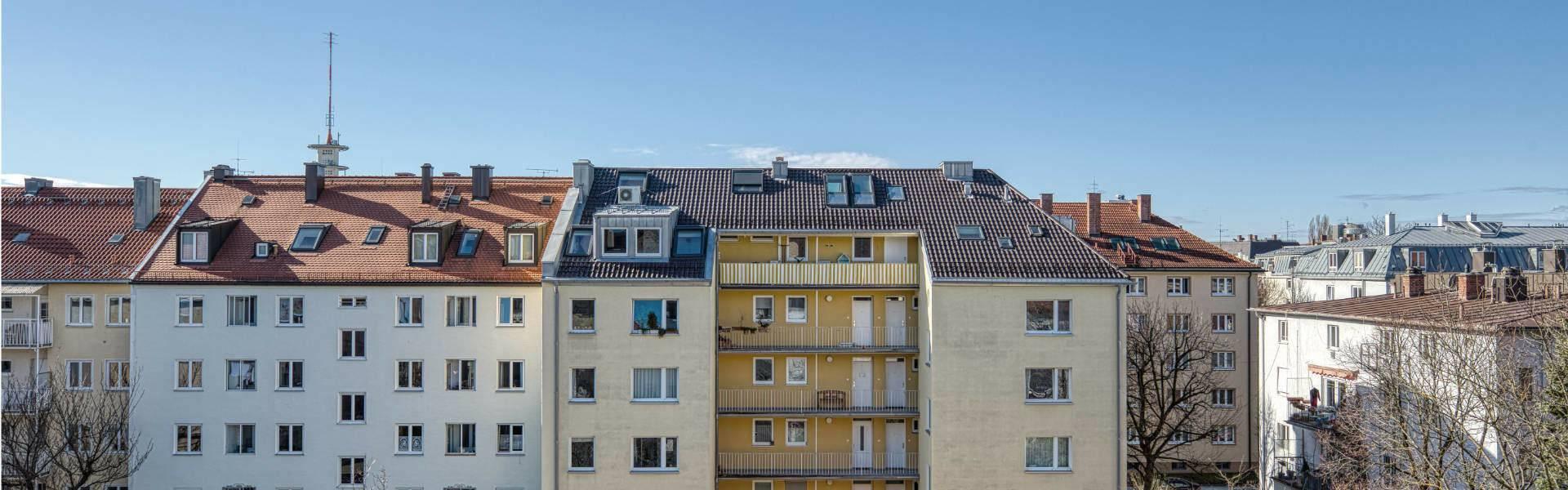 Maxvorstadt Wohnung Blick aus dem Fenster