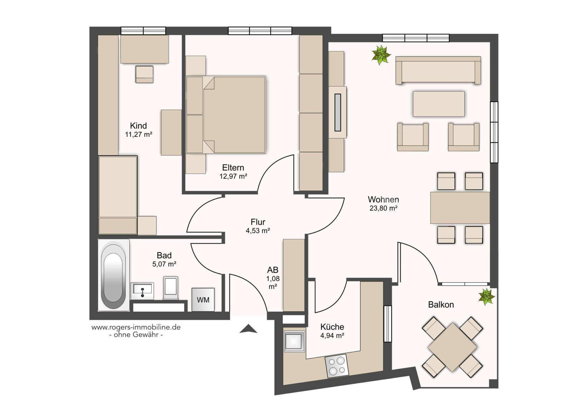Moosach Wohnung Grundriss