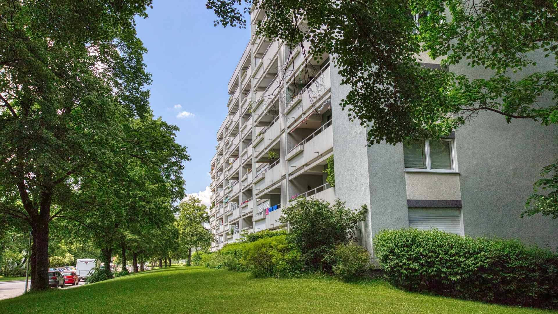 Unterhaching Wohnung Hausansicht
