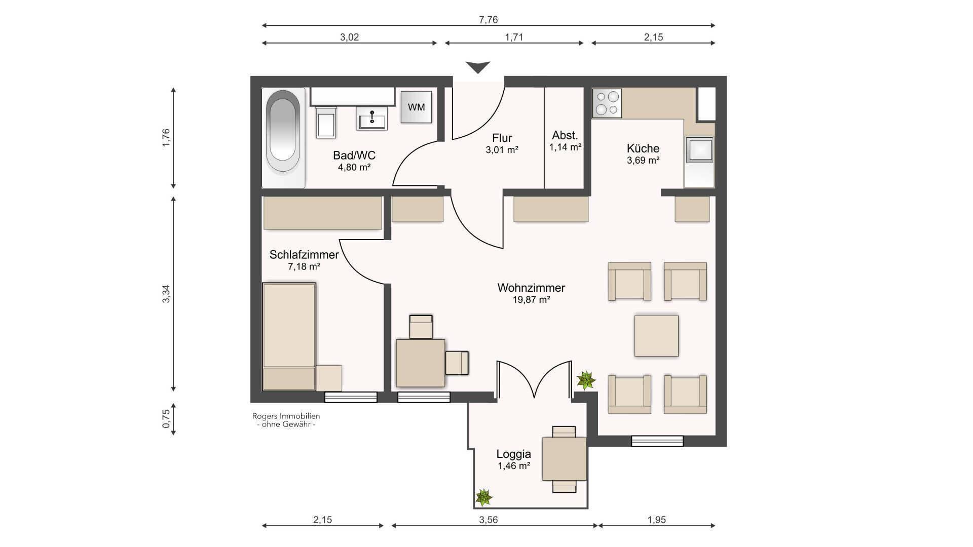 Wohnung Moosach Grundriss