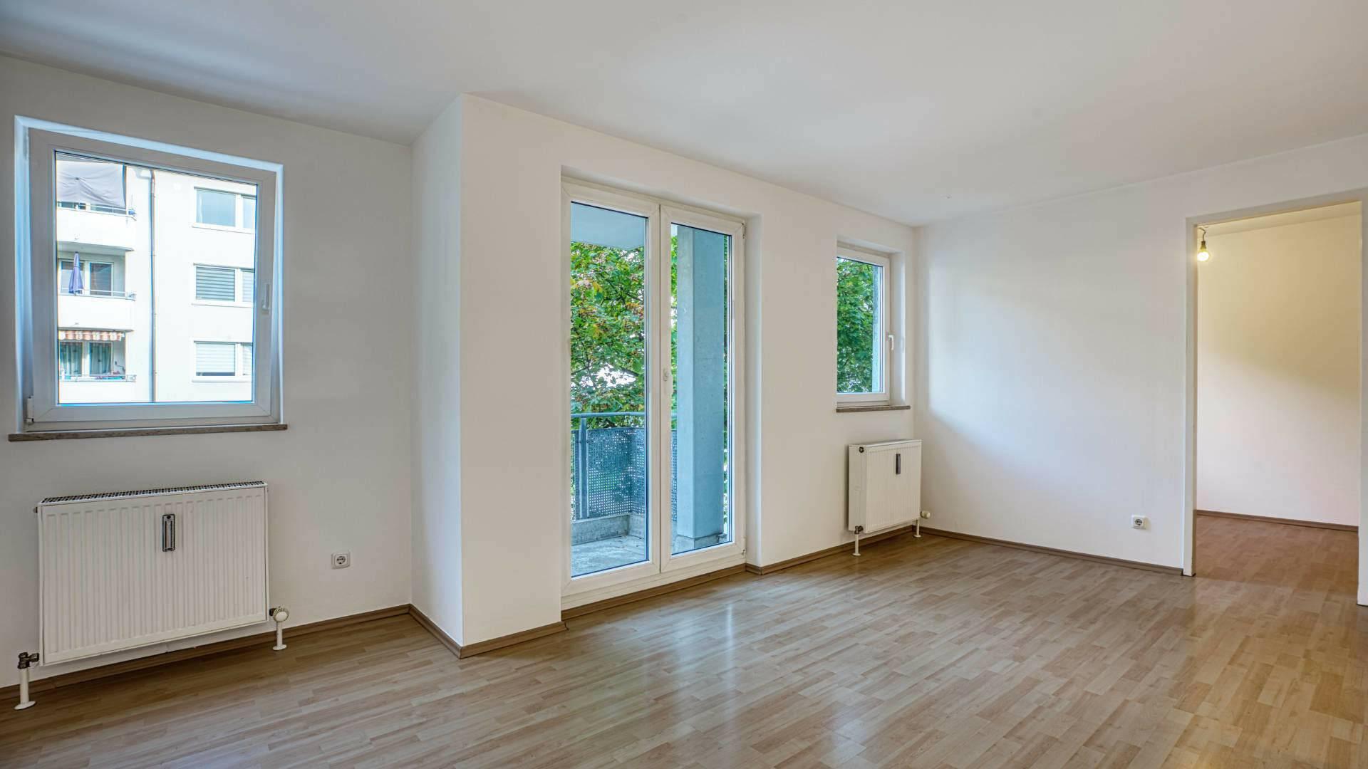 Moosach Wohnung kaufen Wohnzimmer
